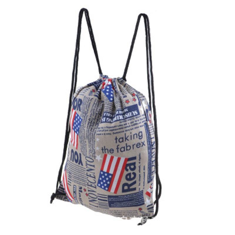 Wholesale Reusable Cheap 210D Drawstring Polyester Bag