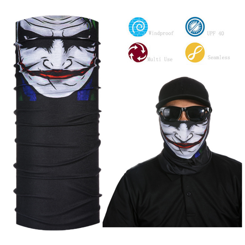 3D Animal Face Mask Joker Men Headband Seamless Multifunction Magic Bandana Scarf Headwear Ring Headscarf