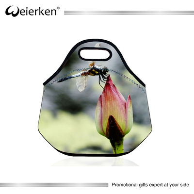 Fancy Flower Printing Waterproof Folding Insulated Beer Cooler Bag Inner Cool Lunch Bag