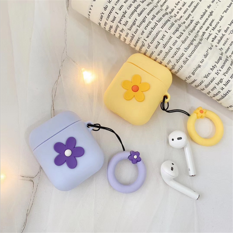 Ear Silicone Case Protective Cover Skin Compatible with Apple AirPods 2 & 1 [Front LED Not Visible]