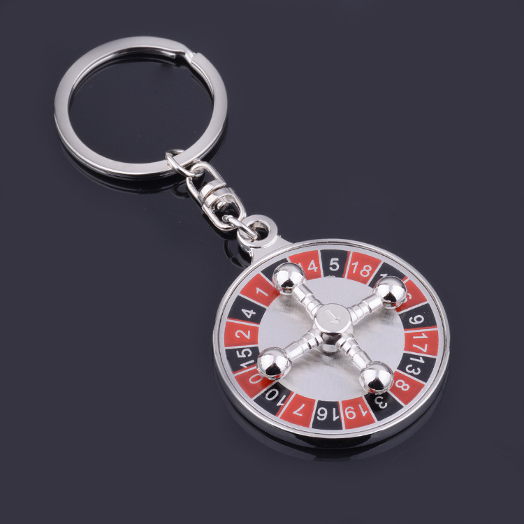 New Product Ideas 2019 Custom Logo Personalized Keychain Poker Chip Key Chain