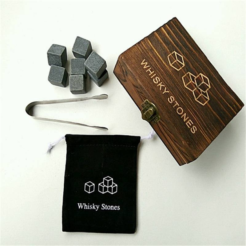 New Design Black Nature Basalt Ice Cube Stone for Sale
