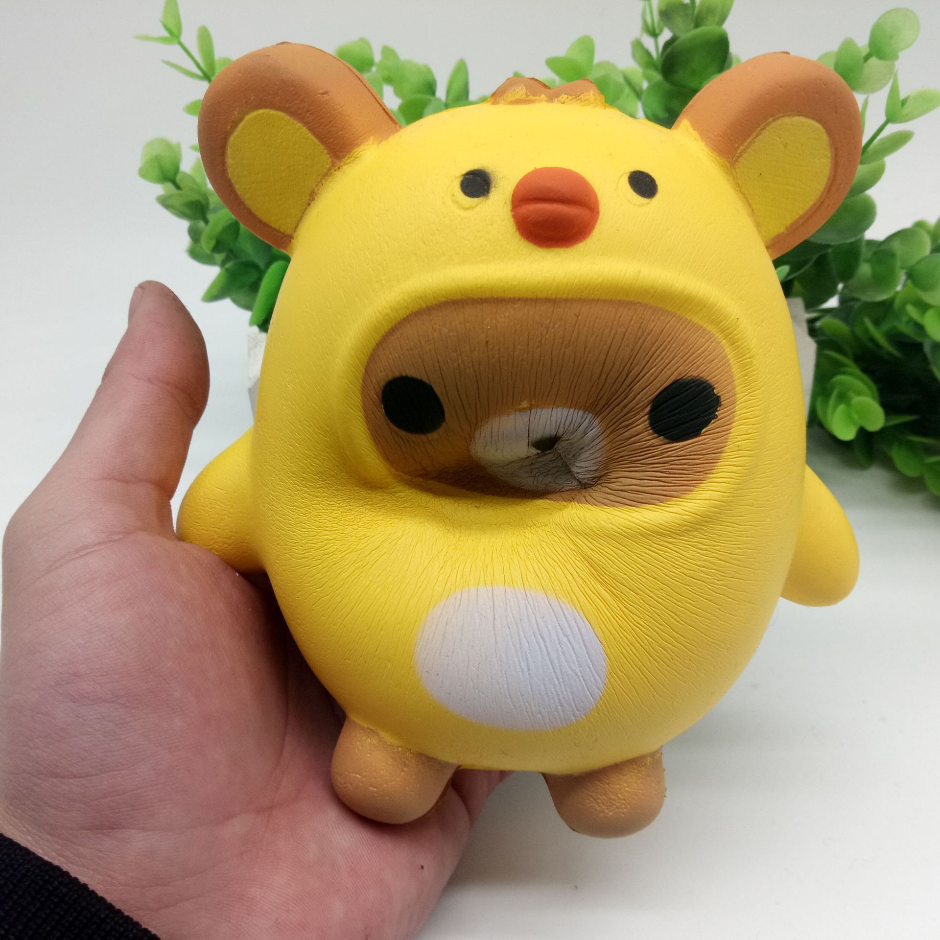 Slow Rising Yellow Chick Bear Stress Ball Toy