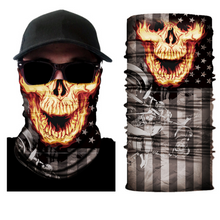 Skull Mask Windproof Dust-proof Motorcycle Face Mask for Out Riding Motorcycle Bicycle Bike Magic Bandana