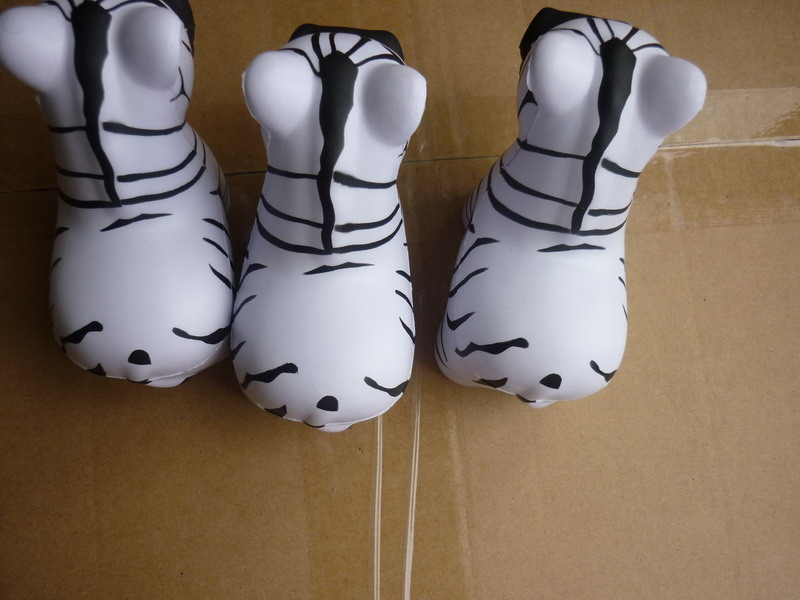 Zebra Squishy Animal PU Toy Stress Ball for kids