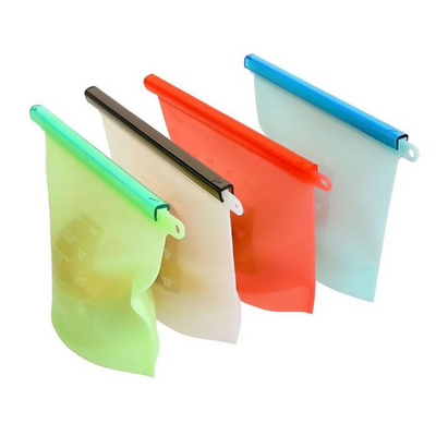 BPA Free Eco Friendly Reusable Silicone Food Storage Bags Silicone Fresh Bags Fruits Vegetable Meats Prervation Container