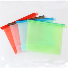 Reusable Refrigerator Silicone Fresh Sealing Food Storage Bag Fruits Vegetable Meats Preservation Container