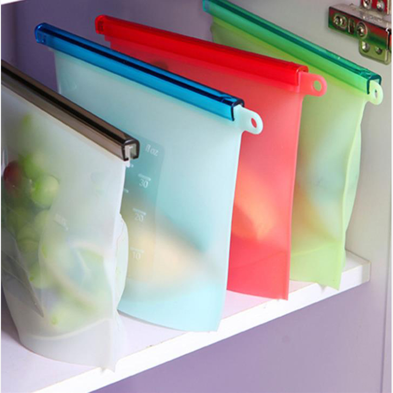 Reusable Silicone Food Storage Bag Food Grade Vegetable Storage Bag